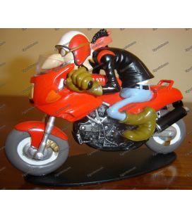 乔英美车队杜卡迪900不锈钢,1992年红色摩托车雕像