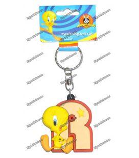 Porte clés TITI figurine WARNER BROS initiale R Looney tunes