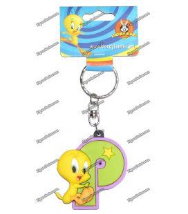 Porte clés TITI figurine WARNER BROS initiale P Looney tunes