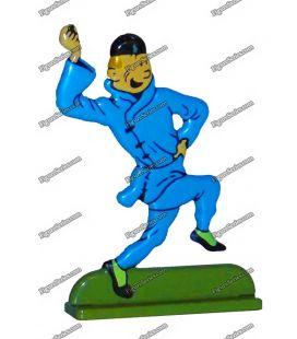 丁丁和蓝荷花铅塑像