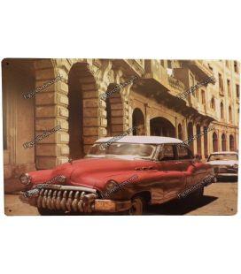 plaat oude auto cuba metal