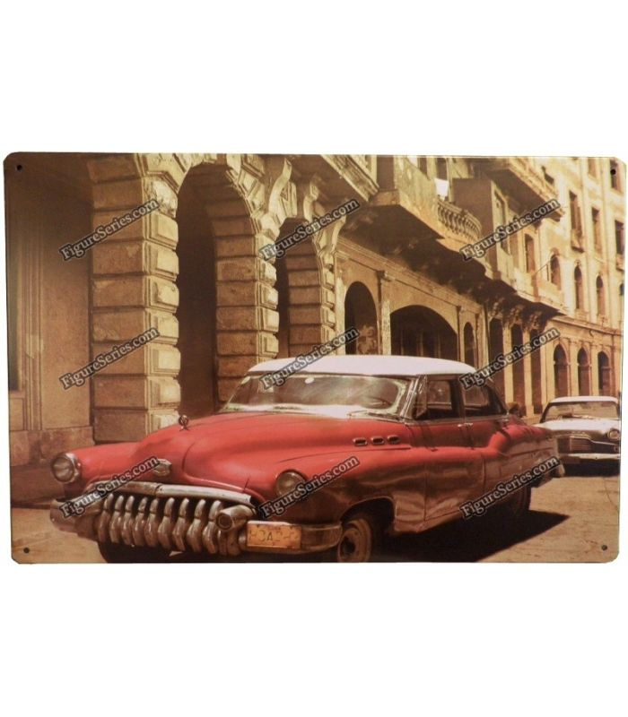 figure series plaque voiture ancienne cuba en metal. Black Bedroom Furniture Sets. Home Design Ideas