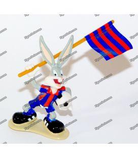 Figura fútbol BUGS BUNNY FC Barcelona estrella juguetes 1996