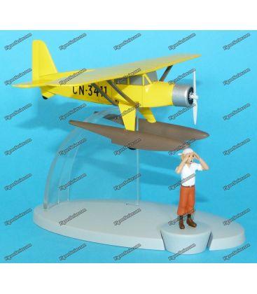 Idrovolante TINTIN aereo giallo metallo Bellanca Pacemaker 31-42