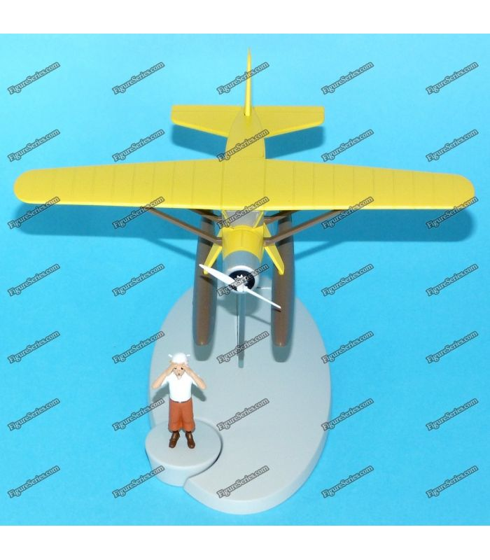 Yellow Plane TINTIN Seaplane Metal Bellanca Pacemaker
