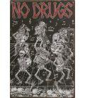Placa metálica drogas no.