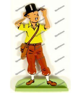 Figurine TINTIN chapeau haut de forme en plomb