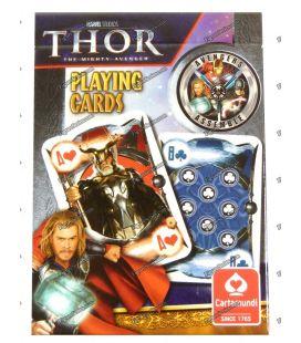Conjunto de 54 cartas THOR Marvel coleção cartamundi