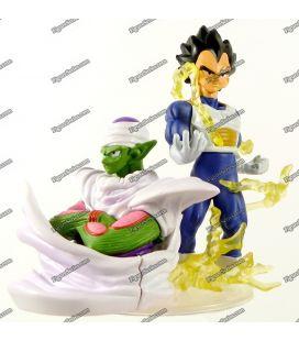 Diorama de figura de ação de DRAGON BALL Z VEGETA e PICCOLO