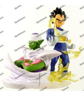 Diorama de figura de acción de DRAGON BALL Z VEGETA y PICCOLO