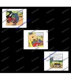 Triptyque de 3 ex libris TINTIN l Affaire Tournesol