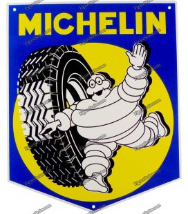 Plaque en métal MICHELIN tole logo pneu bibendum