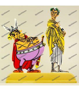 ASTERIX y los belgas Julio César y EDADEPIÉDRIX figurillas de metal