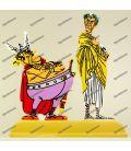 ASTERIX en de Belgen Julius Caesar en mevrouw NESTORIX metalen beeldjes