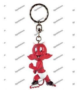 Porte clés figurine HOT STUFF en rollers par Demons et Merveilles