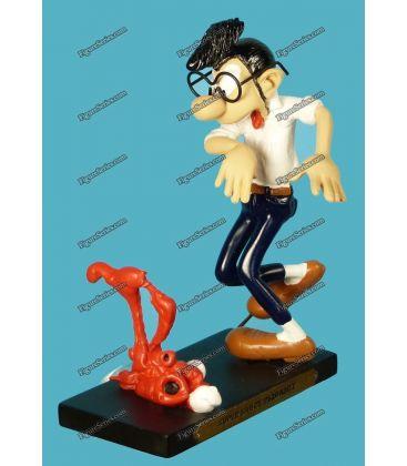 Figurine en résine GASTON LAGAFFE le flash Phare Plastoy