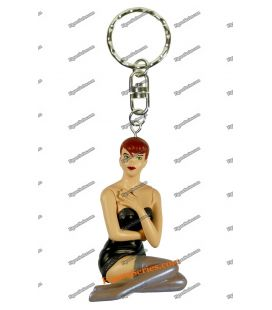 Porte clés Pin up DOTTIE figurine sexy Yann Berthet Démons & Merveilles