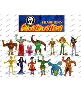 GHOSTBUSTERS Filmation 1987 collection complète des 13 figurines