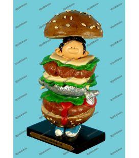 Beeldje hars GASTON LAGAFFE man sandwich