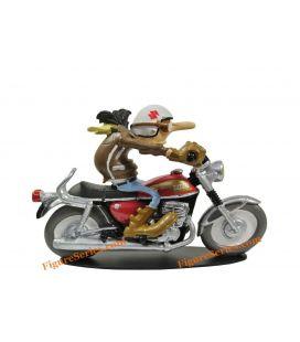 雕像乔英美车队摩托车铃木T 500