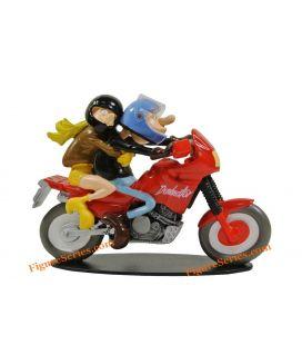 Joe Bar Team moto HONDA 650 DOMINATOR figurine trail