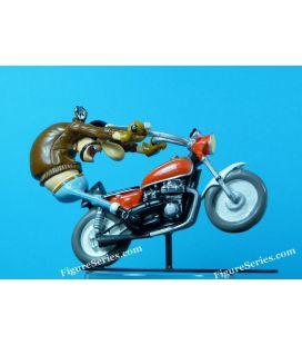 HONDA 750 FOUR wheeling moto team del joe bar