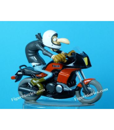 Motocicleta de resina estatueta Joe Bar equipe KAWASAKI GPZ 750 Turbo