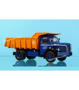 camion BERLIET GLM 10 à benne de chantier