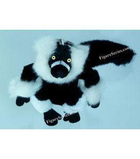 Porte-clés NATIONAL GEOGRAPHIC peluche lemur VARI noir et blanc