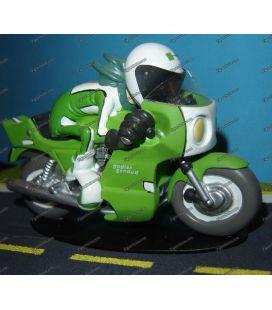 Miniatuur hars Joe Bar Team sport motorfiets KAWASAKI 1000 godier genoud