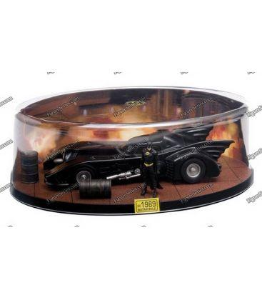 Miniature BATMOBILE BATMAN 1989 diorama auto Gotham city film metal