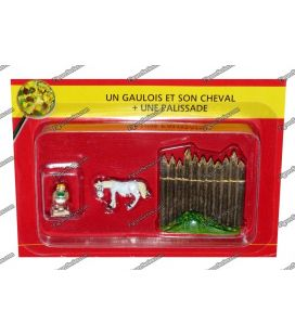 The VILLAGE of ASTERIX figure Gauls and horse no. 45 PLASTOY