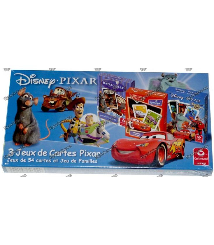 3 Pack DISNEY PIXAR Ratatouille Cars Buzz Lightyear 7 card games families