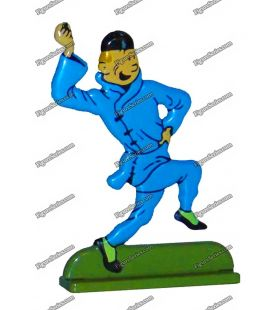 TINTIN and the blue LOTUS lead figurine