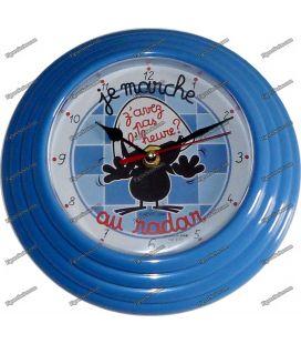 Reloj de pared azul de jaula de péndulo Avenida de las estrellas