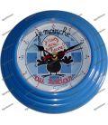 Pendule CALIMERO horloge mural bleu AVENUE of the STARS