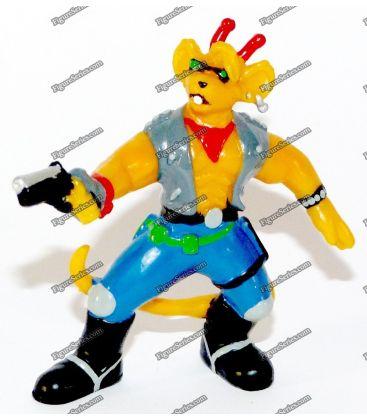 Figurine motard les SOURIS de l'ESPACE BULLY THROTTLE