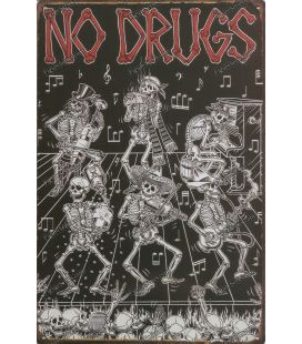 placa de metal de drogas n.