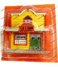 Das SALOON-Haus der Stadt von LUCKY LUKE führen PLASTOY Bar Kuh junge
