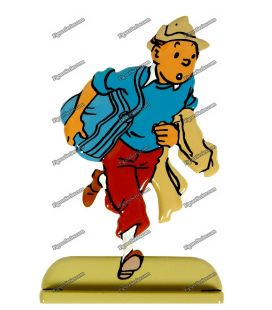 Figurine TINTIN reporter lead COKE in STOCK