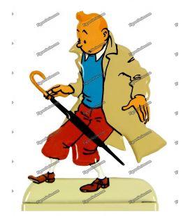 Figurine TINTIN parapluie en plomb l'AFFAIRE TOURNESOL