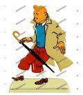 Figur Tim und STRUPPI Regenschirm führen der Fall Bienlein