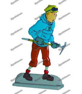 Figurine TINTIN alpiniste au Tibet en plomb