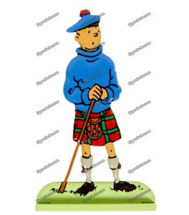 TINTIN figure in kilt lead the Black island