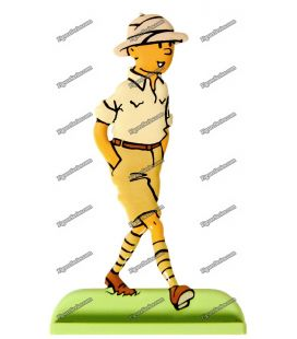 TINTIN in the Congo lead figurine
