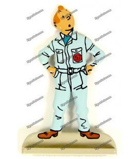 Lune objectif figurine TINTIN astronauta chumbo