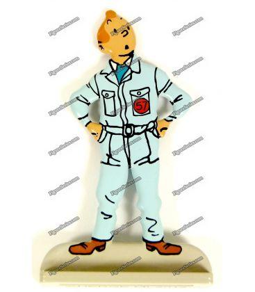 Figurine TINTIN astronaute en plomb objectif lune