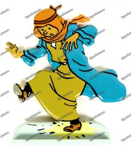 Figurine TINTIN Saoudien en plomb au Pays de l'or Noir
