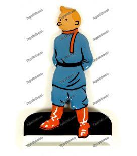 Figurine TINTIN na terra do chumbo soviéticos