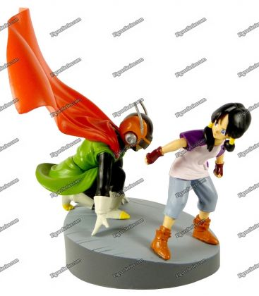 Figura de ação do DRAGON BALL Z grande SAIYAMAN e diorama VIDEL San Gohan
